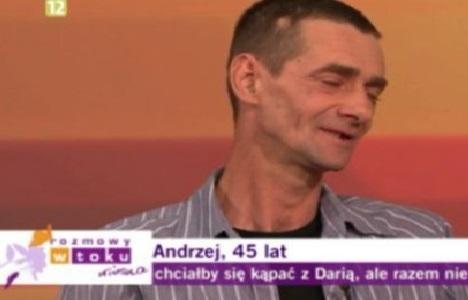 Andrzej – chciałby się kąpać z Darią, ale…