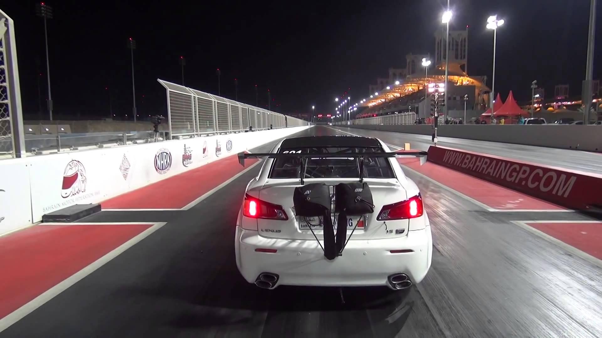 Lexus ISF Twin Turbo tak szybki, że aż poleciał!
