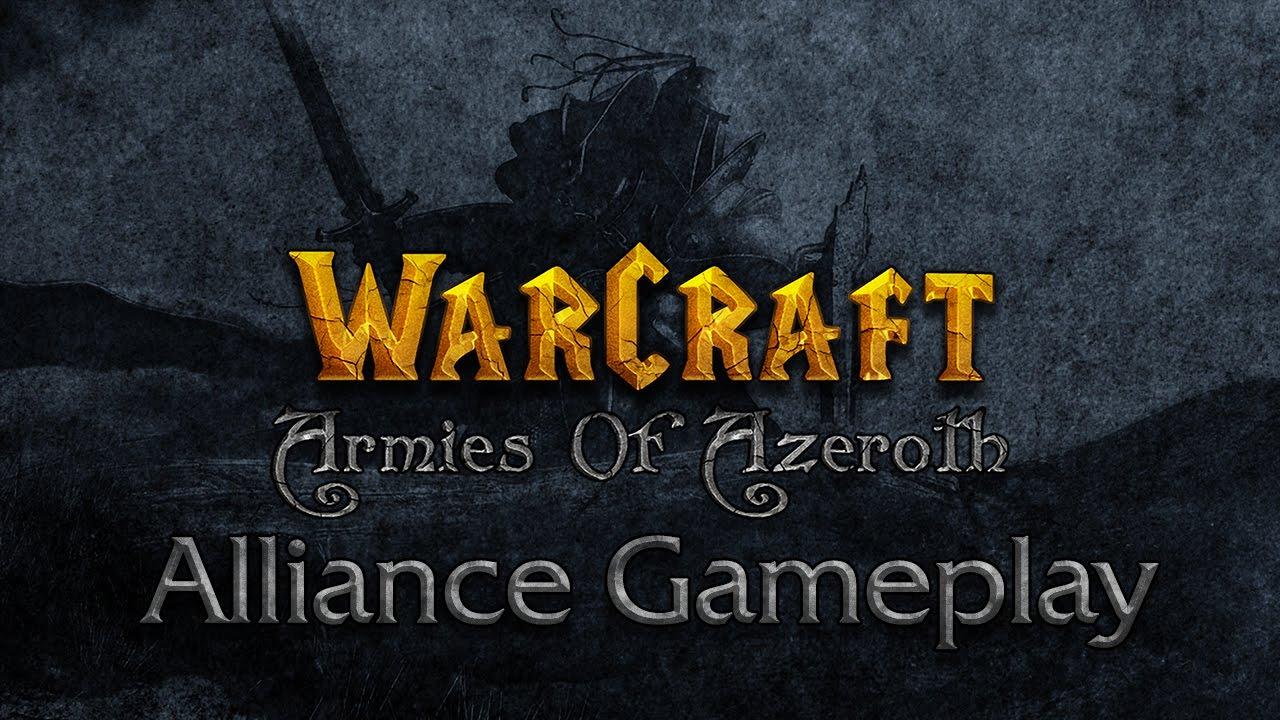 WarCraft: Armies Of Azeroth Alliance Gameplay! The Starcraft II based remake of Warcraft III!