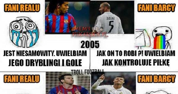 Fani Barcy i Realu kiedyś i dzisiaj