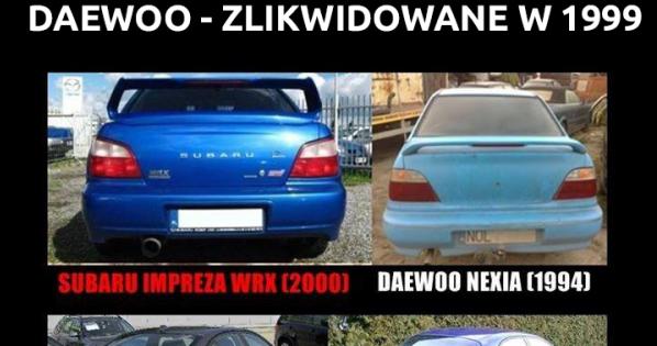 Wszyscy kopiują z Daewoo