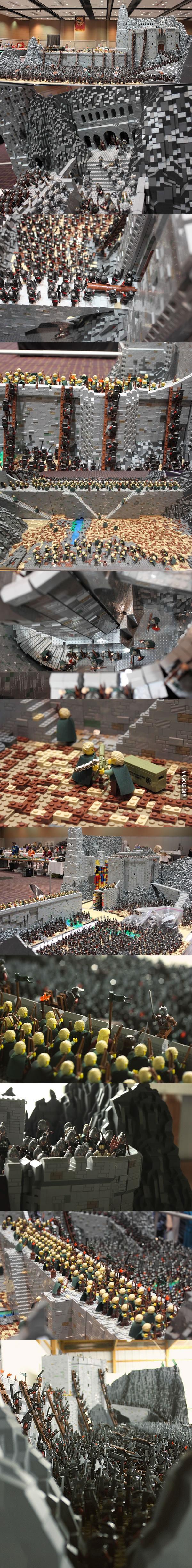 Bitwa o Hełmowy Jar stworzona z ponad 150 tysięcy klocków LEGO!