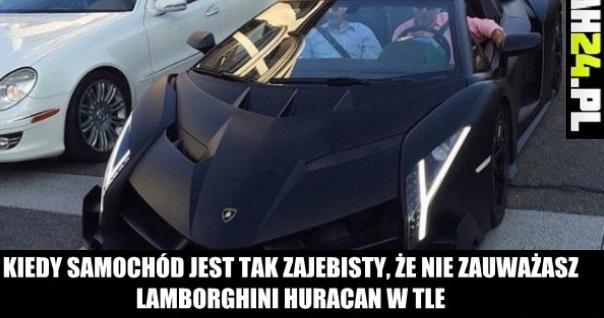 Kiedy samochód jest tak zajebisty, że nie zauważasz Lamborghini Huracan w tle