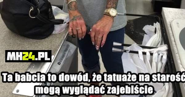Tatuaże Na Starość Mogą Wyglądać Dobrze Mh24pl Humor
