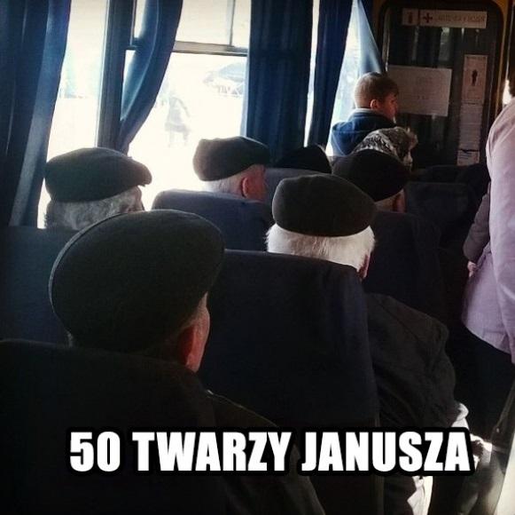 50 twarzy Janusza Obrazki
