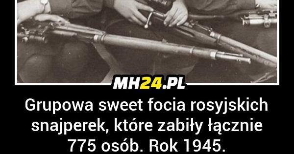 Grupowa sweet focia rosyjskich snajperek, które zabiły 775 osób. Rok 1945.