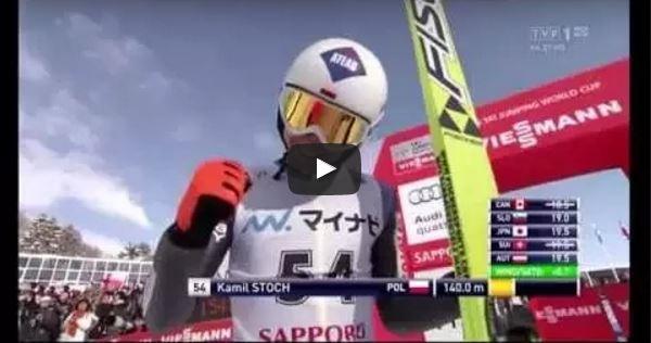 Kamil Stoch – PŚ Sapporo 2015 – Rekord Skoczni – 140 m
