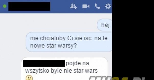 Spytał się jej czy pójdzie na Star Wars Obrazki