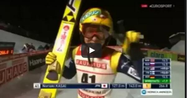 Noriaki Kasai – Trondheim 2016 – 143m!!! Wyrównany rekord skoczni!
