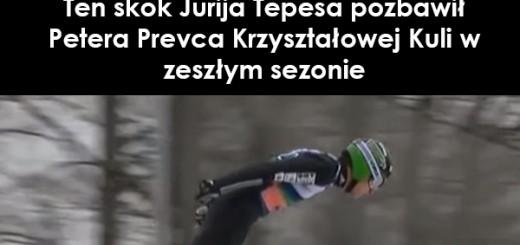 Ten skok Jurija Tepesa pozbawił Petera Prevca Krzyształowej Kuli w zeszłym sezonie Sport Video