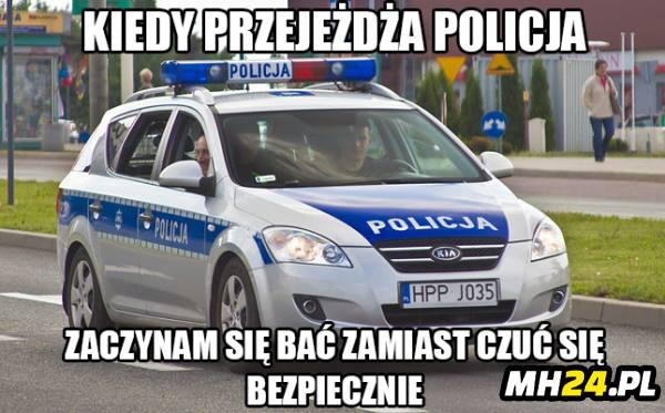 Kiedy przejeżdża policja…