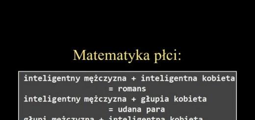 Matematyka płci - tak to wygląda Obrazki