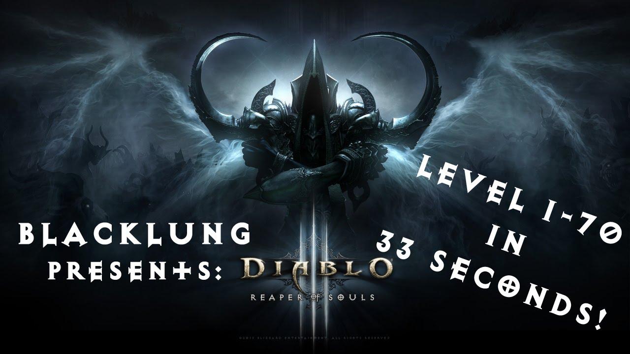 Fastest Leveling in Diablo 3! 1-70 in 33 seconds!