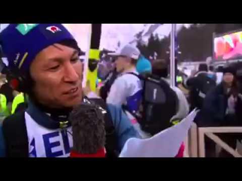 Noriaki Kasai śpiewa piosenkę o Planicy!