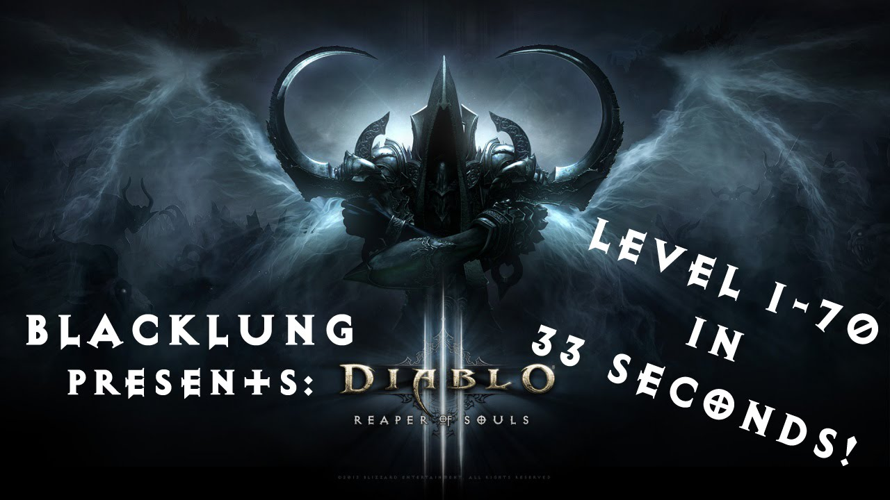 Fastest Leveling in Diablo 3! 1-70 in 33 seconds!