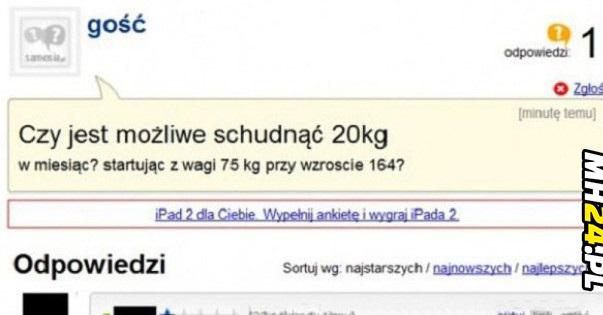 Czy jest możliwe schudnąć 20 kg w miesiąc?