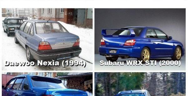 Subaru papuguje z Daewoo
