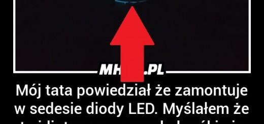 Koleś zamontował w sedesie diody LED. Efekt niesamowity! Obrazki