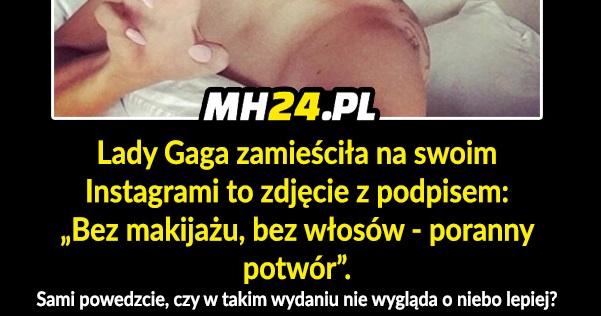 Lady Gaga bez makijażu