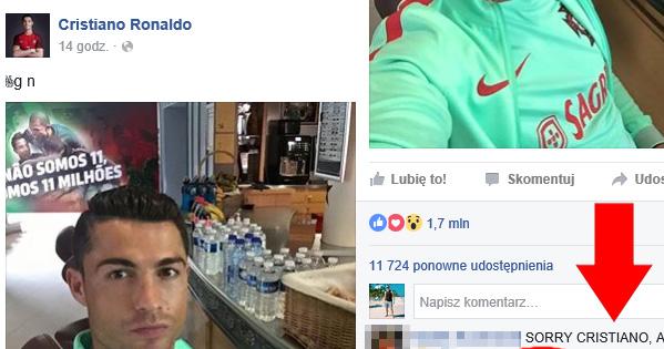 Polski komentarz pod zdjęciem Cristiano wygrywa wszystko!