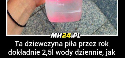 Ta dziewczyna piła przez rok dokładnie 2,5l wody dziennie... Obrazki