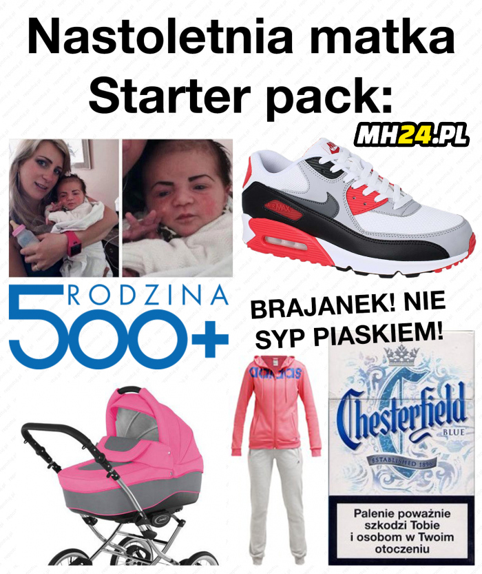 Nastoletnia matka  - starter pack Obrazki