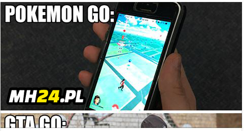 Pokemon Go vs GTA Go Gry