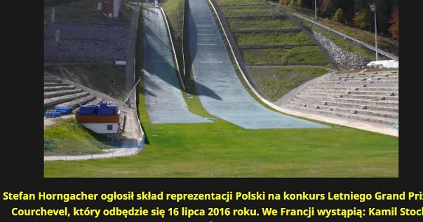 Stefan Horngacher ogłosił skład reprezentacji Polski na konkurs Letniego Grand Prix w Courchevel