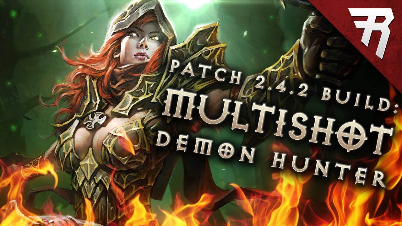 Diablo 3 2.4.2 Demon Hunter Build: Unhallowed Essence Multishot (Season 7)