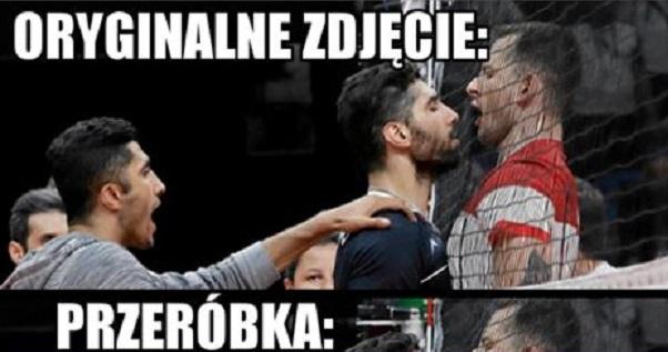 Podczas meczu Polska – Iran zrobiło się gorąco xD