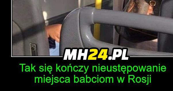 W autobusie w Rosji xD
