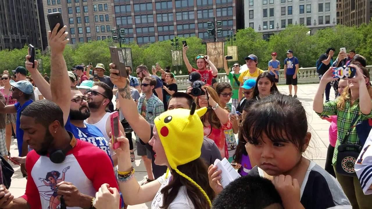 W Chicago gracze Pokemon Go zaczęli śpiewać hymn Pokemonów wyszło genialnie!