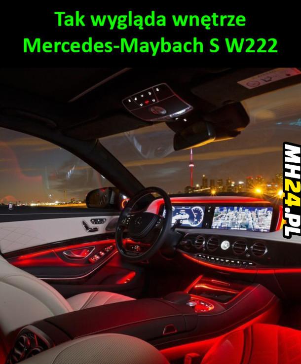 Wnętrze Mercedes-Maybach S W222