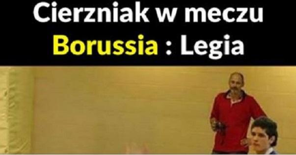 Cierzniak w meczu Borussia – Legia