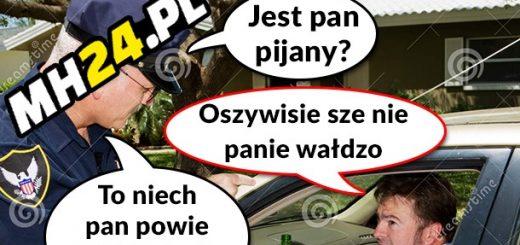 Pijany kierowca i pan władza xD Obrazki