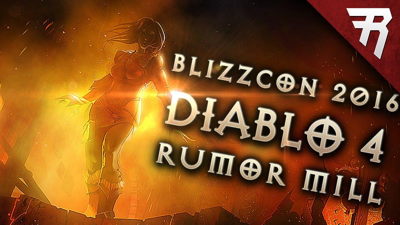 Diablo 4 Reveal rumors Pre- Blizzcon 2016