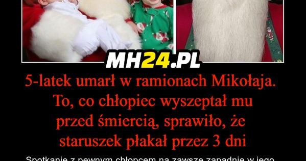5-latek umarł w ramionach Mikołaja…