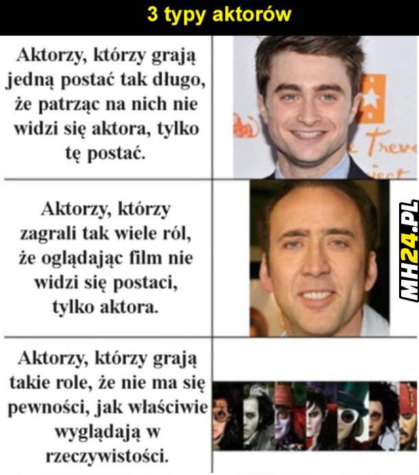 3 typy aktorów