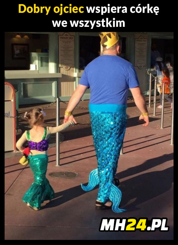 Dobry ojciec wspiera córkę we wszystkim