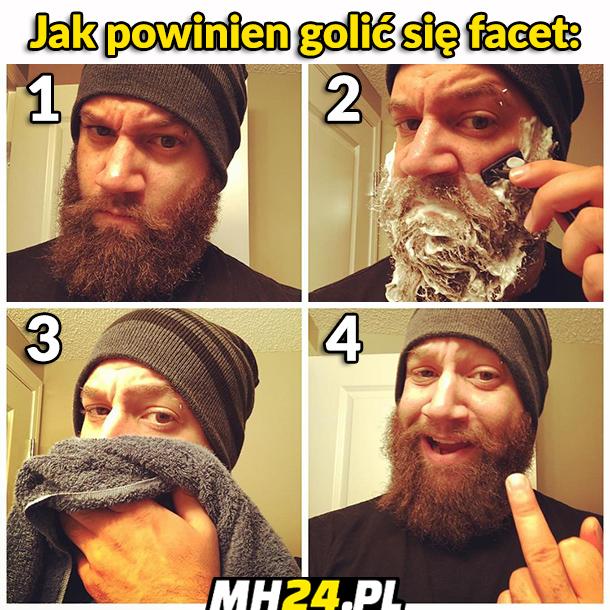 Jak powinien golić się facet