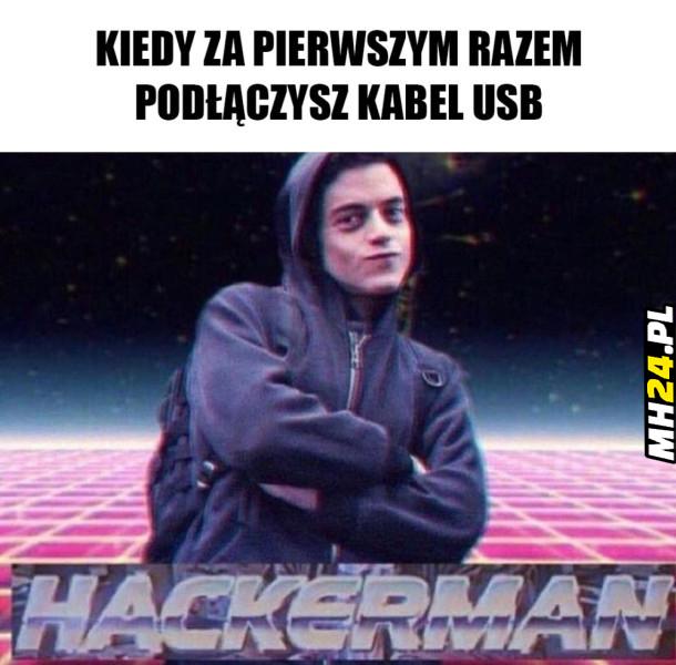 Kiedy za pierwszym razem podłączysz kabel USB