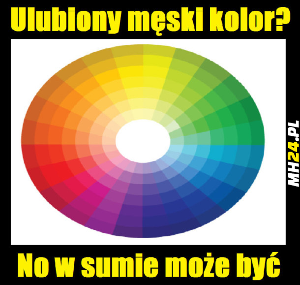 Ulubiony męski kolor