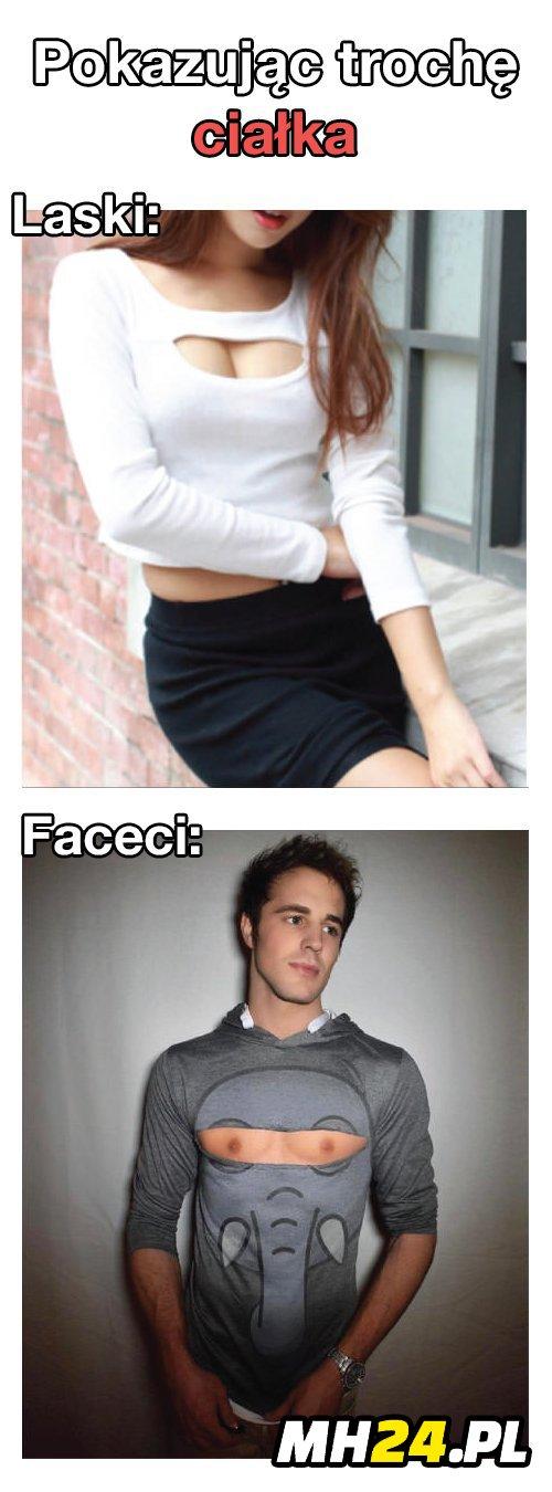Dekolt u kobiet vs dekolt u facetów xD Moda