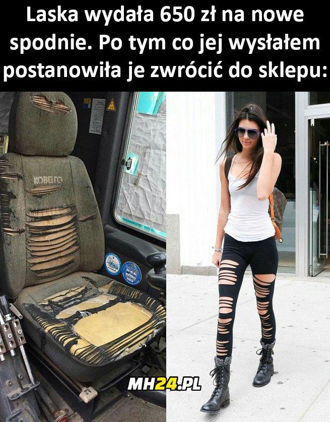 Mieć takie spodnie to jak ich nie mieć xD Moda