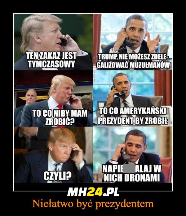 Niełatwo być prezydentem