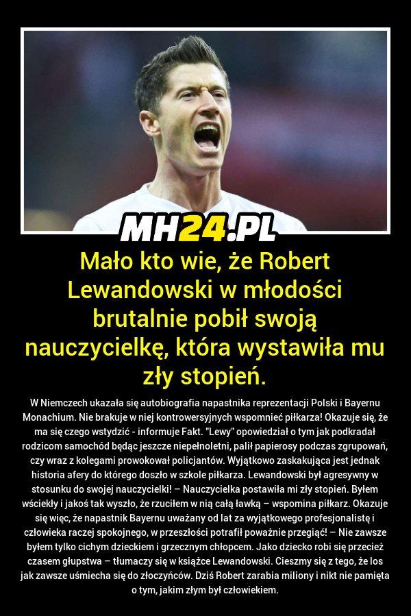 Ciekawy fakt o Robercie Lewandowskim