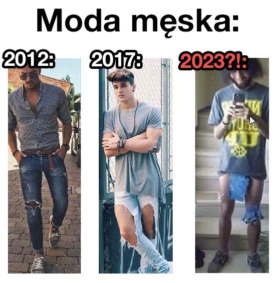 Męska moda zmierza w złym kierunku Moda