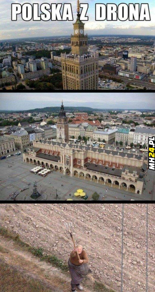 Polska z drona