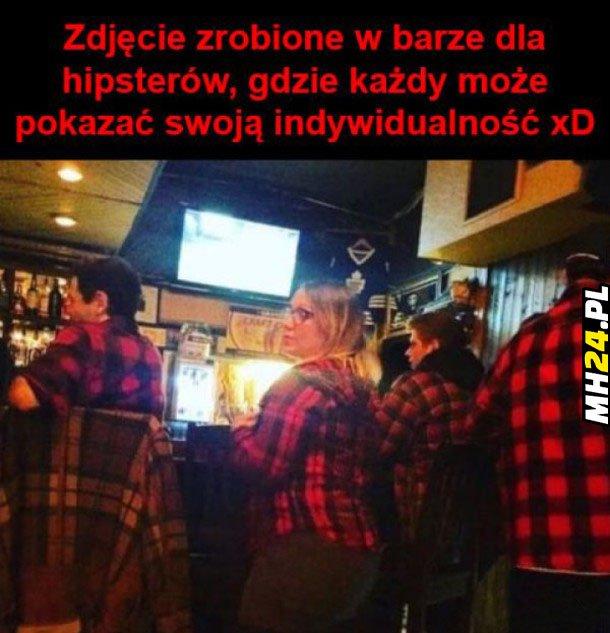 Zdjęcie w barze dla hipsterów