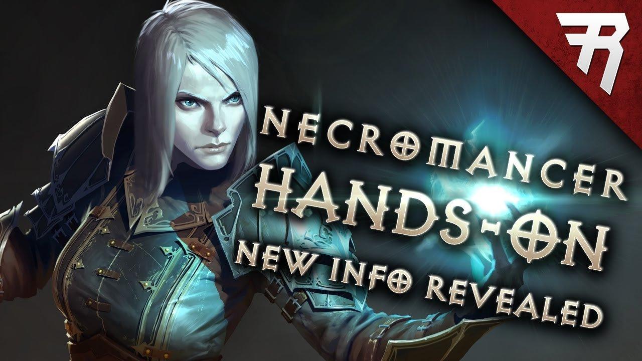 NECROMANCER HANDS-ON! New info (Diablo 3 gameplay) Video